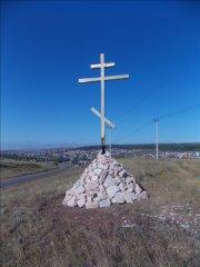 Освящение поклонного креста в с. Михайловка