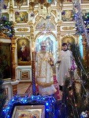 Празднование отдание Рождества Христова с Архиереем